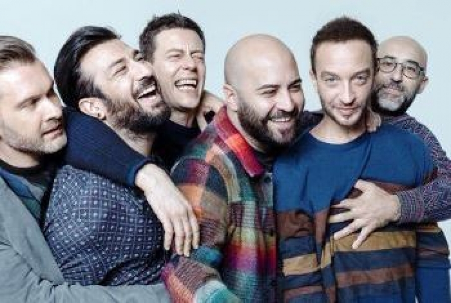Sanremo 2018, i Negramaro (ospiti della terza serata) in sala stampa